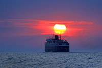 2012-08-15-0064 SS Badger Sails Into Sunset