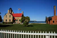 2011-10-02_0118 Summer at the Old Mackinac Point Lighthouse with Mackinac Bridge